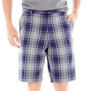 Claiborne® Flat-Front Shorts