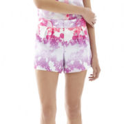 L'Amour by Nanette Lepore Pleated Flutter Shorts