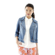 L'Amour by Nanette Lepore Denim Moto Jacket