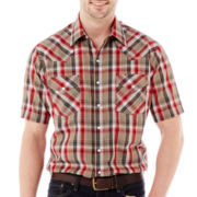 Ely Cattleman Short-Sleeve Plaid Snap Shirt