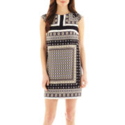 MNG by Mango® Cap-Sleeve Scarf Print Dress