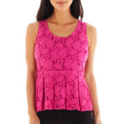 Worthington® Lace Peplum Top - Petite