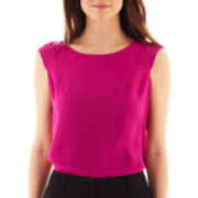 Worthington® Cap-Sleeve Envelope-Back Blouse