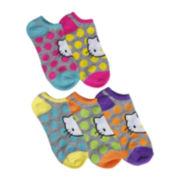 Hello Kitty® 5-pk. Polka Dot Print No-Show Socks