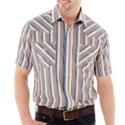 Ely Cattleman Short-Sleeve Stripe Snap Shirt