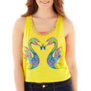 Arizona Embellished Cropped Graphic Tank Top - Plus