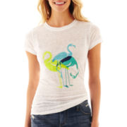 jcp Linen Graphic Tee