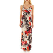 Robbie Bee® Sleeveless Floral Maxi Dress