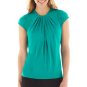 Worthington Twist-Front Top - Tall