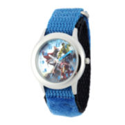 Marvel® Avengers Kids Time Teacher Blue Nylon Fast Strap Watch