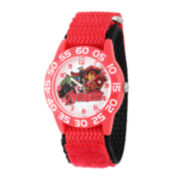 Marvel® Avengers Kids Time Teacher Red Nylon Watch