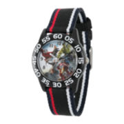 Marvel® Avenger Kids Time Teacher Black Nylon Watch