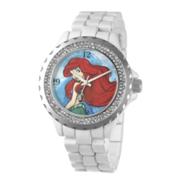 jcpenney.com | Disney Ariel Womens Crystal-Accent White Bracelet Watch