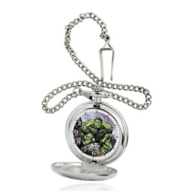 jcpenney.com | Marvel® Hulk Mens Silver-Tone Pocket Watch
