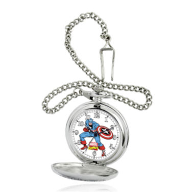 jcpenney.com | Marvel® Captain America Mens Silver-Tone Pocket Watch