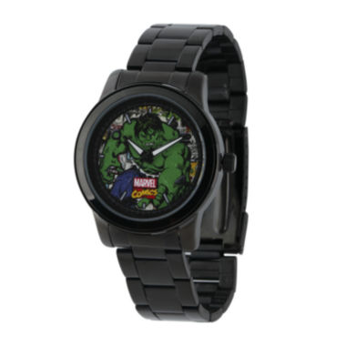 jcpenney.com | Marvel® Hulk Mens Black Stainless Steel Watch