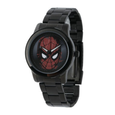 jcpenney.com | Marvel® Spider-Man® Mens Black Stainless Steel Watch