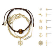 Carole Nautical 9-pc. Gold-Tone Jewelry Set
