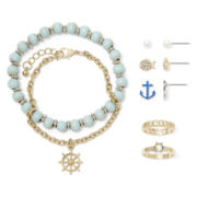 Carole Nautical 7-pc. Gold-Tone Jewelry Set