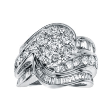 jcpenney.com | 4 CT. T.W. Diamond 14K White Gold Swirl Ring