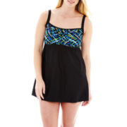 Delta Burke® 1-pc. Peasant Swimdress - Plus
