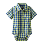 OshKosh B'gosh® Plaid Bodysuit - Baby Boys 3m-24m