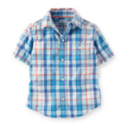 Carter's® Plaid Button-Front Shirt - Baby Boys 6m-24m
