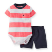 Carter's® Striped Bodysuit and Shorts Set – Baby Boys newborn-24m