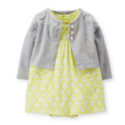 Carter's® Yellow Dress and Cardigan Set - Baby Girls newborn-24m