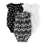 Carter's® 3-pk. Black and White Bodysuits – Baby Girls newborn-24m