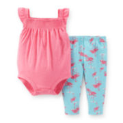 Carter's® 2-pc. Flamingo Bodysuit and Pants Set - Baby Girls newborn-24m