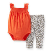 Carter's® 2-pc. Cheetah Bodysuit and Pants Set - Baby Girls newborn-24m