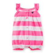 Carter's® Striped Cotton Creeper - Baby Girls newborn-24m