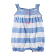 Carter's® Blue Striped Creeper – Baby Girls newborn-24m