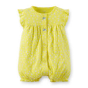 Carter's® Yellow Floral Creeper - Baby Girls newborn-24m