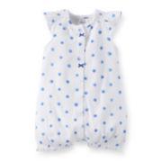 Carter's® Blue Polka Dot Creeper – Baby Girls newborn-24m