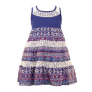 Bonnie Jean® Crochet Print Dress - Preschool Girls 4-6x