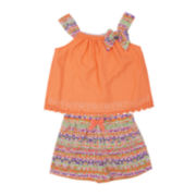 Little Lass Top and Shorts Set - Toddler Girls 2t-4t