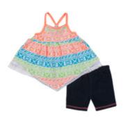 Little Lass Tank Top and Shorts Set - Toddler Girls 2t-4t