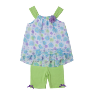 jcpenney.com | Little Lass Top and Shorts Set - Preschool Girls 4-6x
