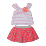 Little Lass Top and Scooter Skirt Set - Preschool Girls 4-6x