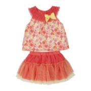 Little Lass Top and Scooter Skirt Set - Preschool Girls 4-6x