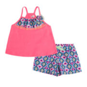 Little Lass Heart-Print Top and Shorts Set - Preschool Girls 4-6x