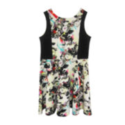 Marmellata Floral Skater Dress - Girls 7-16
