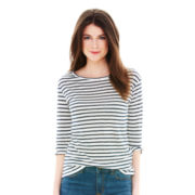 Joe Fresh™ Long-Sleeve Striped Linen T-Shirt