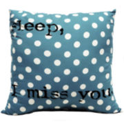 Sleep I Miss You Decorative Pillow