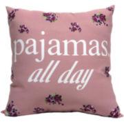 Pajamas All Day Decorative Pillow