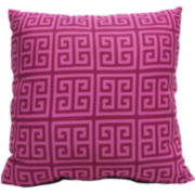 Greek Square Decorative Pillow