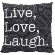 Live Love Laugh Decorative Pillow