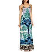 MSS Sleeveless Print Maxi Dress
